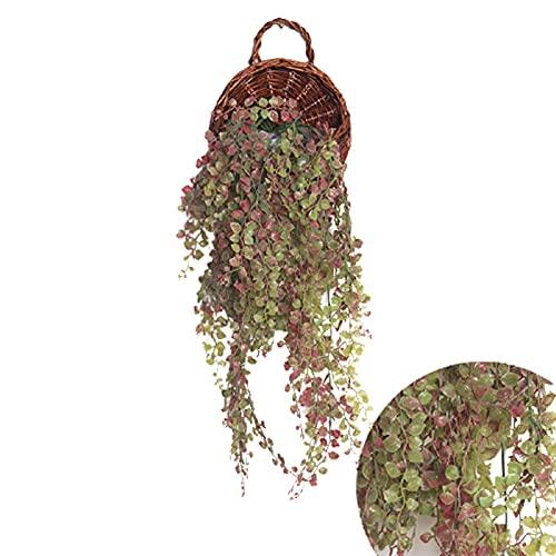 Jiuyue Cestas Colgantes Artificiales, Flores Y Plantas Montadas En La Pared, Utilizadas para La Decoración De Paredes del Hogar. S/D