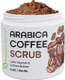 Arabica Coffee Exfoliating Body Face Scrub 100% Natural - Organic Exfoliator With Sea Salt Olive Oil & Shea Butter - Exfoliate Moisturize Reduce Cellulite
