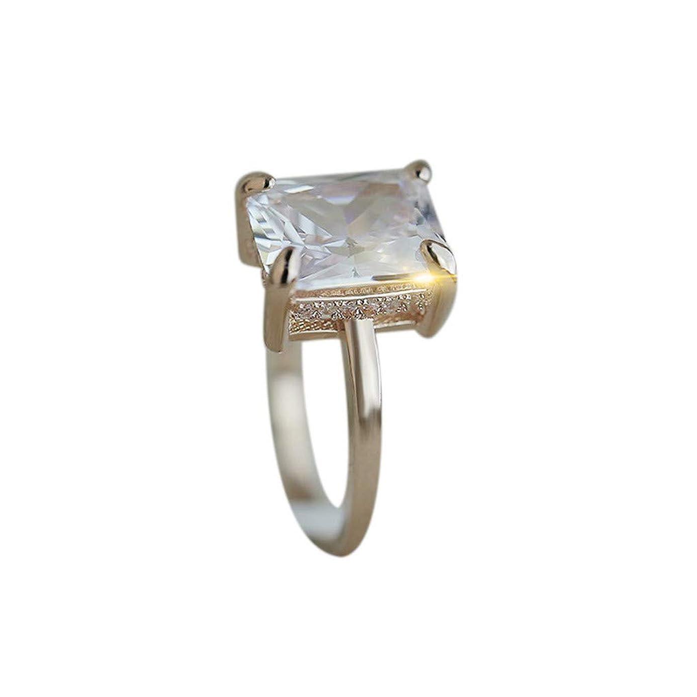 Kintaz Women's Engagement Luxury Generous Creative Four Claws Topaz Diamonds Jewelry (6, Rose Gold)