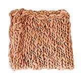 Kuncg Baby-Fotografie Props Blanket Stretch Knit Wraps Neugeborene Fotografie Strickdecke Foto Prop Hintergrund Requisiten (Braun,55 * 55 cm)