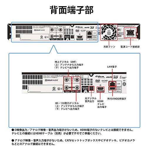 『シャープ AQUOS ブルーレイレコーダー 3TB 3チューナー Ultra HDブルーレイ対応 4K対応 BD-UT3200』の9枚目の画像