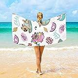 Toallas de Playa Hoja Sandía Perro Pug Flamingo Microfibra Grande para niños Adultos 94x188 cm Secado rápido Ligero Súper Absorbente Toalla de viajeHshy