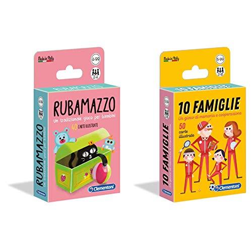 Sapientino Rubamazzo, Multicolore, 16175 & Clementoni - 16172 - Sapientino -10 Famiglie, Gioco Di Carte Per Bambini