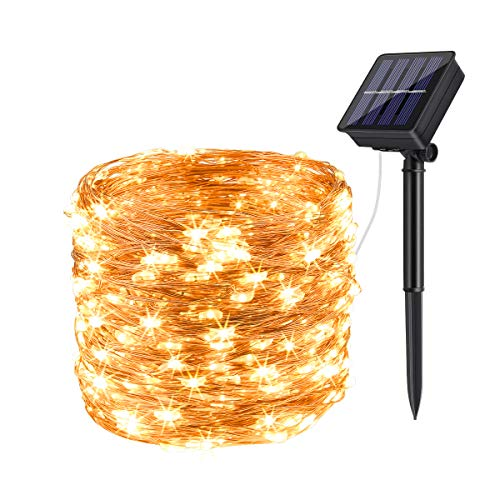 DeepDream Solar Fairy Lights Outdoor, 72ft/20m 200 LED 8 Modes Solar...