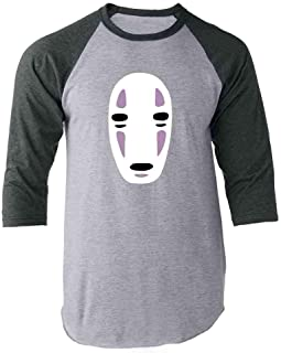 No Face Kaonashi Nerd Apparel Geek Raglan Baseball Tee Shirt