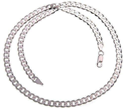 5mm Panzerkette, Silberkette - Länge wählbar 40-100cm - echt 925 Silber