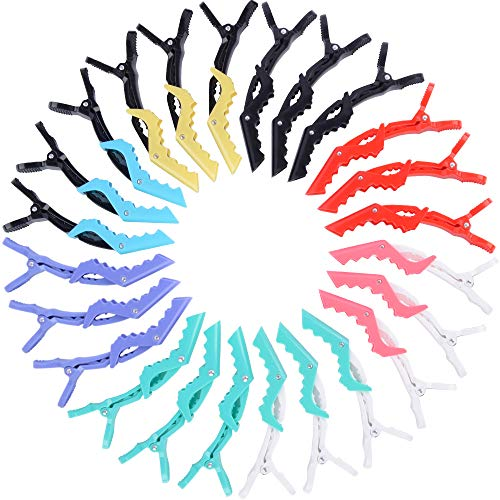 Alligator Hair Clips for Women - Cehomi 24Pcs Styling Hair Sectioning Clip For Thick Hair-Colorful Nonslip And Wide Teeth Plastic Salon Styling Hair Grips