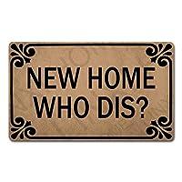DEW XIA ウェルカムドアマット ホームデコ用 18 x 30インチ 新しいホームフー ダイス 面白いマット 滑り止めゴムバック キッチンラグ 玄関用ドアマット カスタマイズ可
