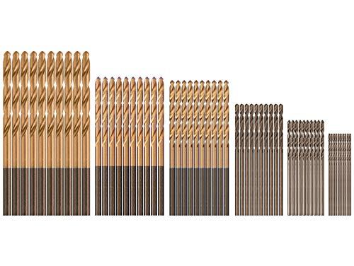 60 PCS Mini Drill Bits Set, 1/8 1/16 3/64 5/64 3/32 7/64 Small Drill Bit Set, High Speed Steel HSS Titanium Micro Drill Bits for Wood, Metal, Steel, Plastic, Aluminum Alloy