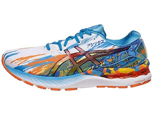 ASICS Men's Gel-Nimbus 23 Running Shoes, 8M, Digital Aqua/Marigold Orange