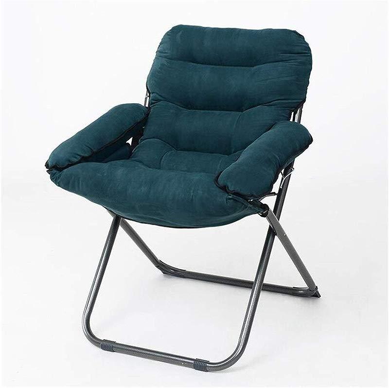 Carl Artbay Footstool Navy Blue PP Cotton Sofa Chair Nursing Chair Keep Warm Individual Folding Computer Chair Home