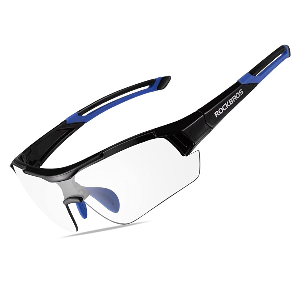 RockBros Unisex Photochromic Sunglasses UV Protection for Outdoor Sport Cycling Black x89519666564344