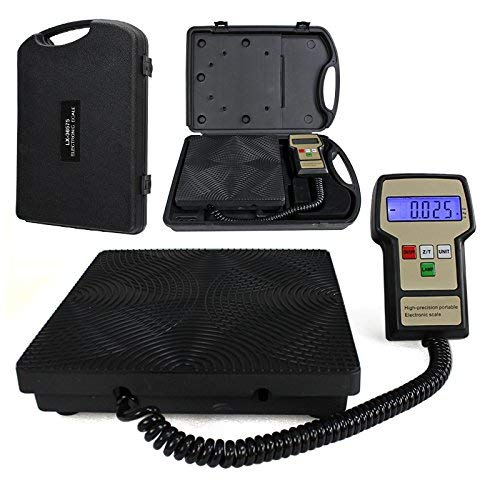 Smartxchoices Digital Electronic Refrigerant Charging Recovery Scale Meters 220 lbs for HVAC with Case (Weight Scale) (#1)