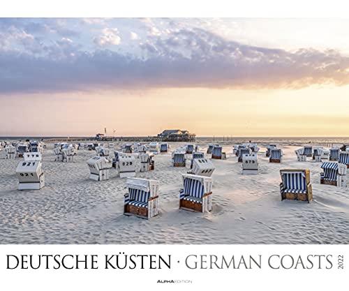 Deutsche Küsten 2022 - Bild-Kalender XXL 60x50 cm - Nordsee - Ostsee - Landschaftskalender - Natur-Kalender - Wand-Kalender - Alpha Edition