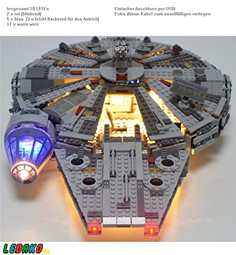 LED Set für LEGO Millenium Falcon 24 LED´s 75105, 7965 & 4504