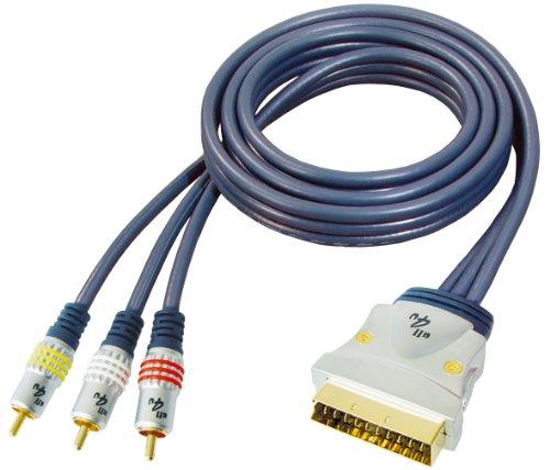 Transmedia All4u BBVM 11 - Cable de vídeo (euroconector macho a 3...