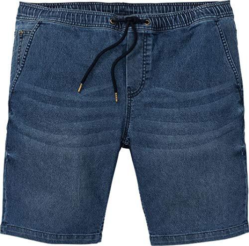Livergy® Herren Jeans Shorts Bermudas mit Bindeband, Sweat-Denim +++ Plus Size +++ (blau, Gr. 64)