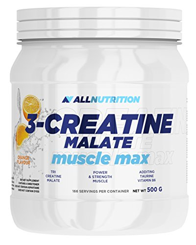 ALLNUTRITION Creatine Malate Kreatin Mit Taurin Vitamin B6 Muskelaufbau Regeneration 500g (Lemon - Zitrone)