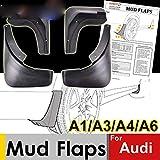 Kfz-Schmutzfänger, Spritzschutzblech für Audi A3 A4 A6 (8E 8P B6 B7 C6) Schmutzfänger Spritzschutzbleche vorne hinten Kotflügel,A