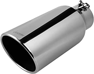 """Upower Universal Diesel Trucks Car Exhaust Tip 4 Inch Inlet 6"""" Outlet 15"""" Long.."""