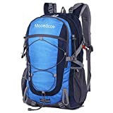 Mooedcoe 40L Mochila Senderismo Montaña Trekking Macutos de Viaje Acampada Marcha (Azul)