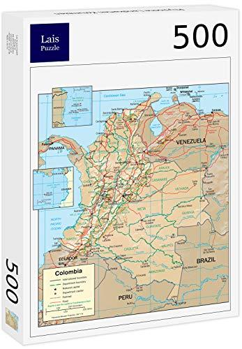 Lais puzzel Fysieke kaarten van Colombia 500 stuks