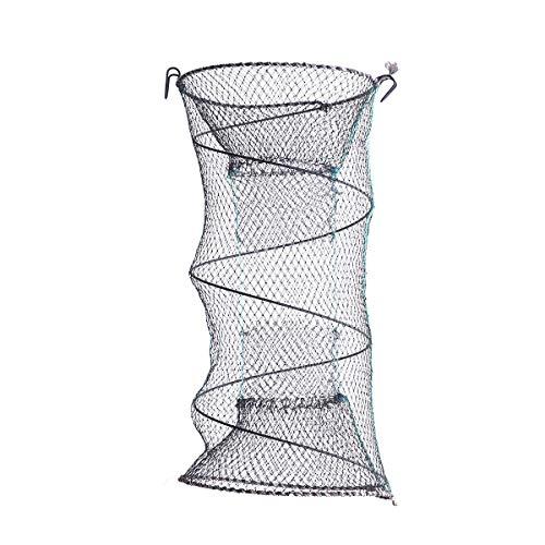 LIOOBO Red de pesca plegable, cubierta de plástico, revestimiento de plástico, red de aterrizaje portátil, jaula de camarones para pescado langosta langostino cangrejo cangrejo de río - 30x60cm