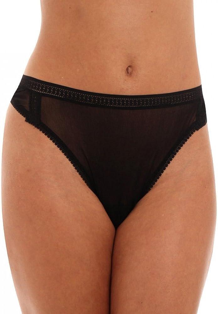 OnGossamer Women's Plus-Size Gossamer Mesh Plus Hi Cut Thong