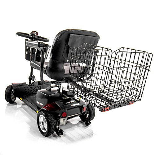 Challenger Mobility J950 Folding Rear Basket for Pride Mobility Scooters & Go-Go Travel Mobility, Heavy-Duty, Durable, Spacious