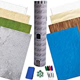 RPG Battle Game Mat - 4 Pack Dry Erase Double sided 36' x 24' (8 Terrains) + 4 Dry Erase Markers + 1 Eraser + 7pc Polyhedral Dice Set - Large Table Top Role Playing Map for Starters and Masters