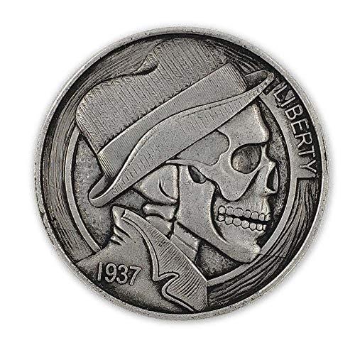 LJIE Las Monedas conmemorativas en 1937, el 38MM de EE.UU. cráneo Som