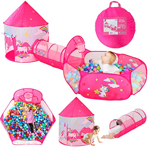 LEGVE 3pc Gift for Girls Princess Fairy Tale Castle Play Unicorn Tent...