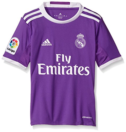 adidas Boys' Soccer Real Madrid Youth Jersey, Purple/White, Large