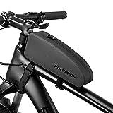 ROCKBROS(ロックブロス)トップチューブバッグ 自転車 簡単装着 フレームバッグ 小物入れケース ロードバイク 膝に当たらないデザイン 長財布 スマホケース 収納バッグ サイクリング