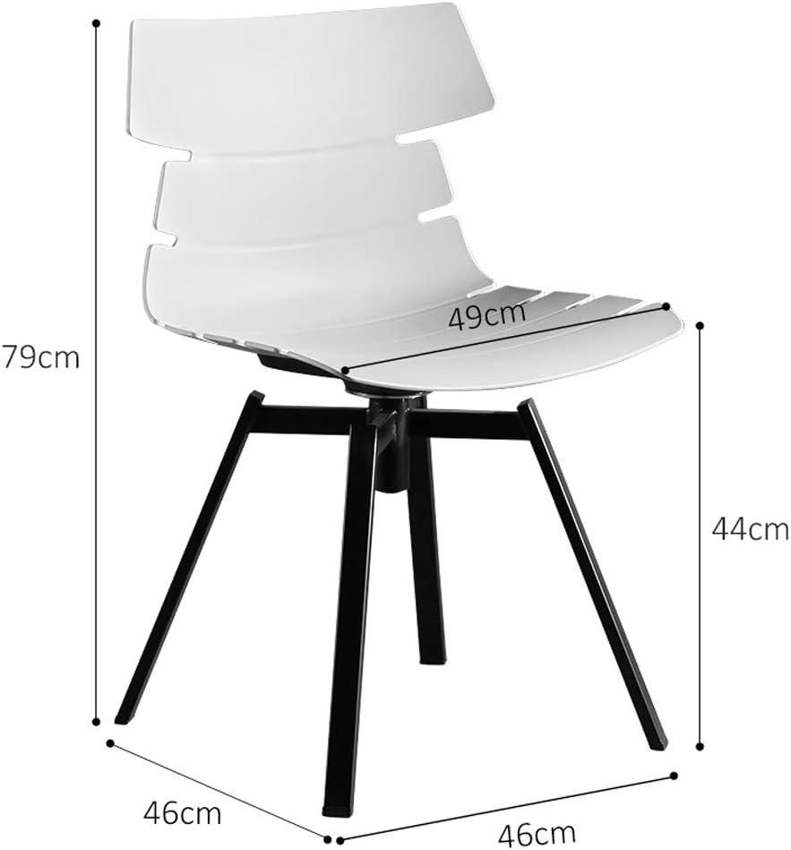 SLL- Chaise de Salle, Chaise de Bureau Simple, créative Dossier, Chaise Loisirs, Maison Adulte Chaise de Salle Moderne (Color : Navy Blue) Orange
