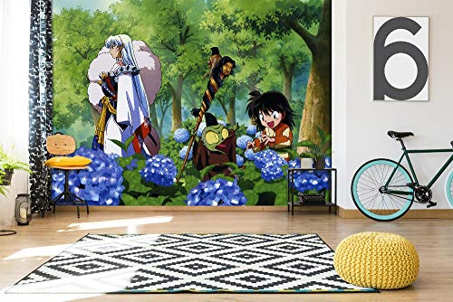 3D Print Anime Wallpaper Mural Wall Mural Wallpaper Cosplay Wall Painting Living Room Bedroom Office Hallway Decoration Wall Decoration Inuyasha 390 x 260 cm (W x H)