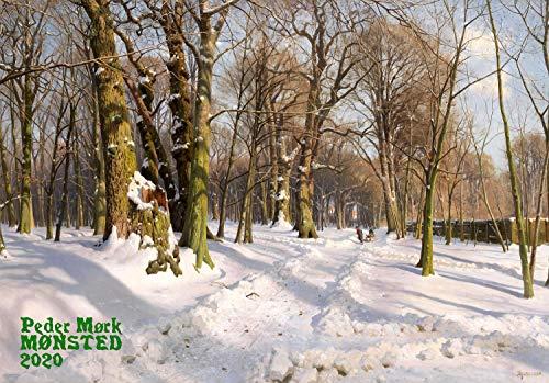 Calendario de pared 2020 [12 páginas 8 x 11 pulgadas] Paisajes rurales de invierno daneses por Peder Mork Monsted Vintage Arte Antiguo Museo Pintura Europa Rusia