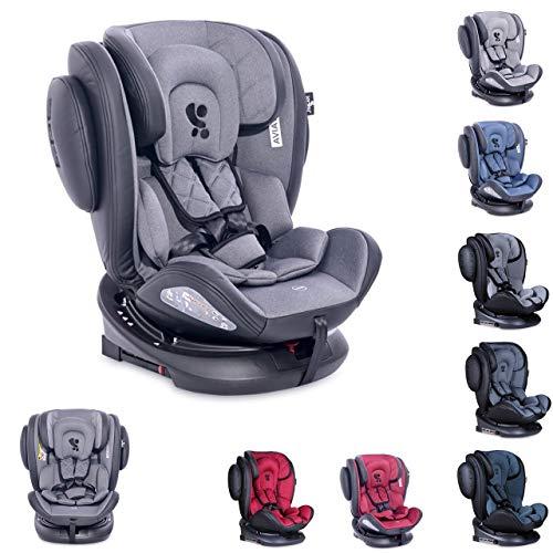 Lorelli asiento infantil Aviator SPS Isofix grupo 0+/1/2/3 (0-36 kg) 0-12 años, color:negro gris