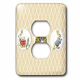 3dRose lsp_99146_6'Peter Rabbit and Friends-Stories-Vintage Art 2 Plug Outlet Cover, Multicolor