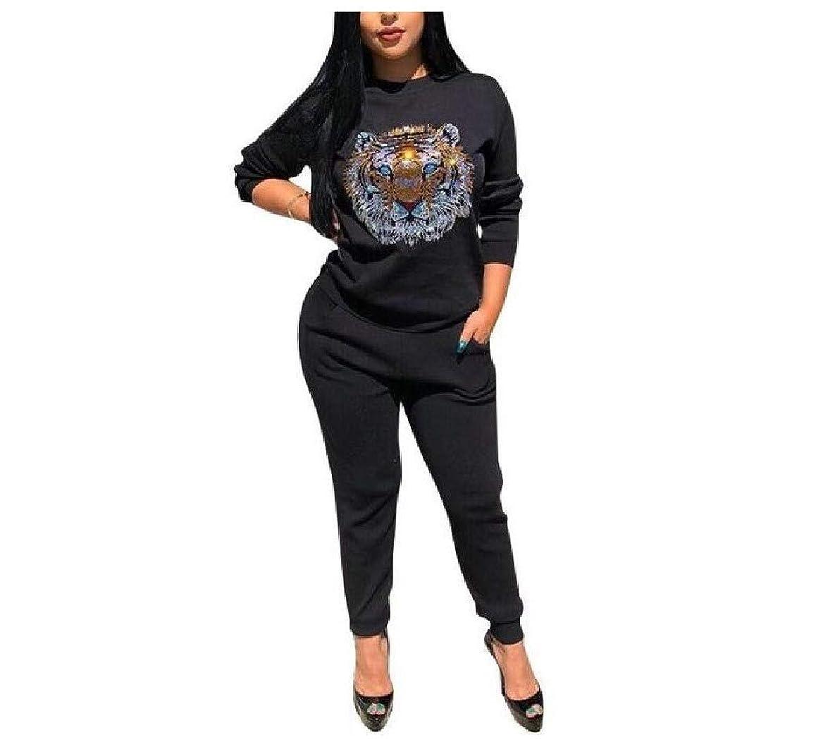 中止します宗教警告するRomancly Womens Regular Pure Color Patterned Pocketed Sportswear Tracksuit