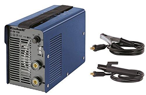 Einhell Inverter Schweißgerät BT-IW 150 (80 V, inkl. Masseklemme, Elektrodenhalter, Ventilatorkühlung, Trageriemen, leicht und kompakt)