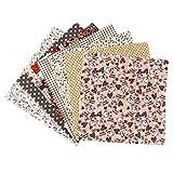 Artibetter Baumwollstoff Blumen Gedruckt Stoff Bundle