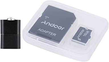 Andoer 16GB Class 10 Memory Card TF Card + Adapter + Card Reader USB Flash Drive with plastic box for Camera Car Camera Cell Phone Table PC GPS
