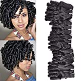 New Funmi Curly Human Hair Weave 5 Bundles Brazilian Unprocessed Virgin Cuticle Aligned Salon Hair Afro Curls Spring Spiral Hairstyle Bundles Weft Natural Color 250Gram/lot(12 12 12 14 14, New Funmi)