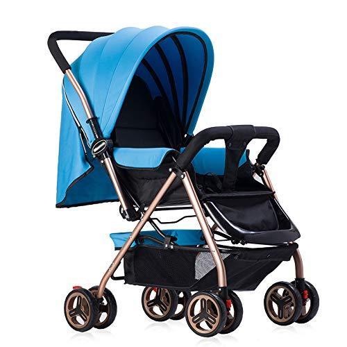Passeggino leggero Compatto seduta reversibile fronte mamma e fronte strada con Schienale Reclinabile Imbragatura a Cinque Punti dalla nascita a 25 kg