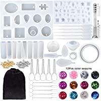 170-Pieces Onesing Silicone Resin Molds Epoxy Resin Kit