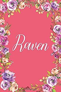 Raven: Personalized Name Journal Writing Notebook For Girls and Women