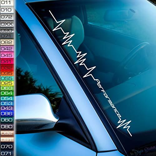 Herzschlag Performance Power Aufkleber Auto-Tuningsticker für Performance-Power Autos
