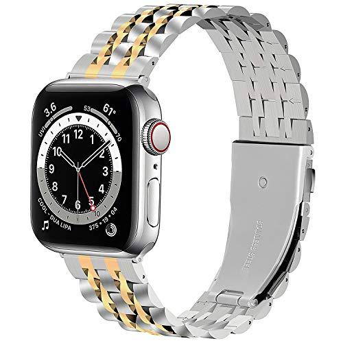Fullmosa Cinturino Compatibile con Apple Watch 42mm 44mm 38mm 40mm,Cinturini di Ricambio per Apple Watch SE 6 5 4 3 2 1,Bracciale in Acciaio Inossidabile in Metallo,Cinturino per Apple Watch SE 6