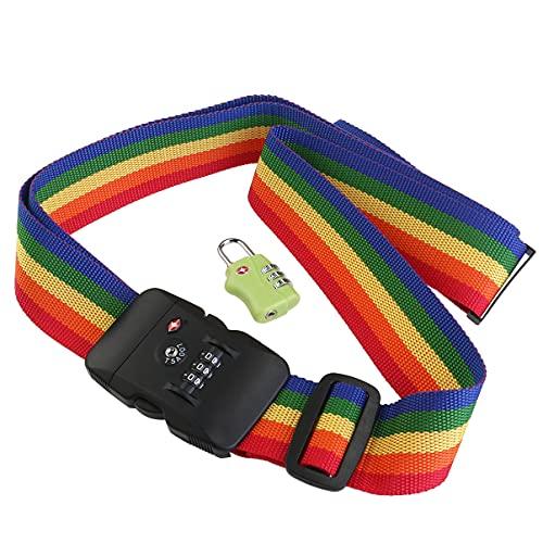 PIXNOR Lucchetto TSA sicurezza bagagli e cintura bagagli valigia viaggio con Password Lock